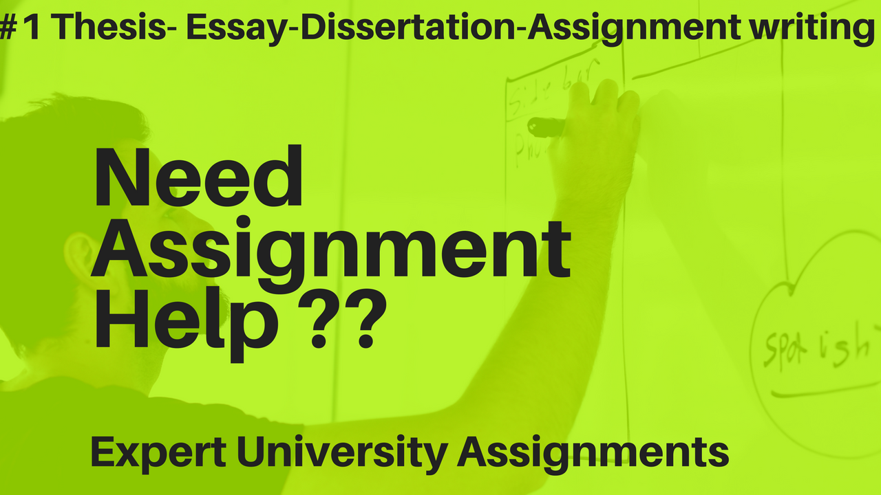 Help With University Assignments